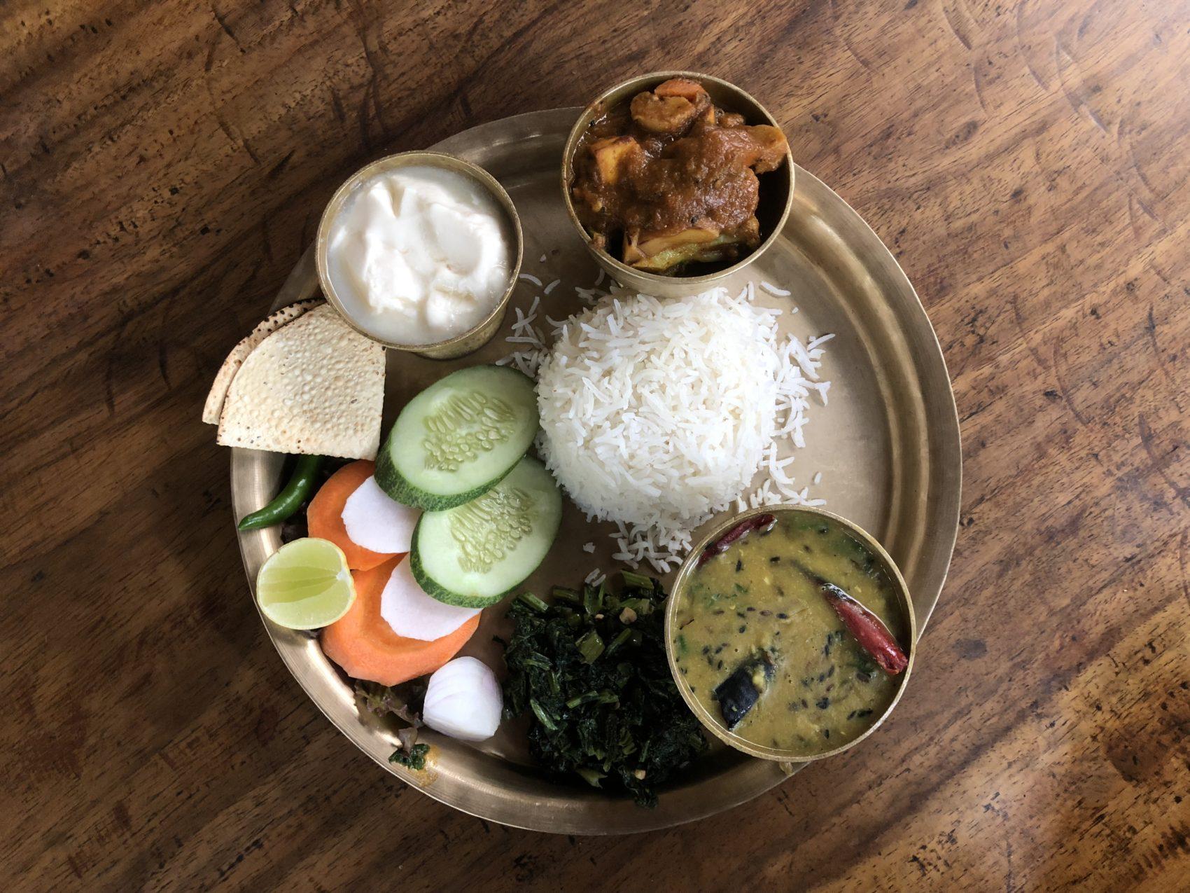 Une assiette de Daal Bhaat