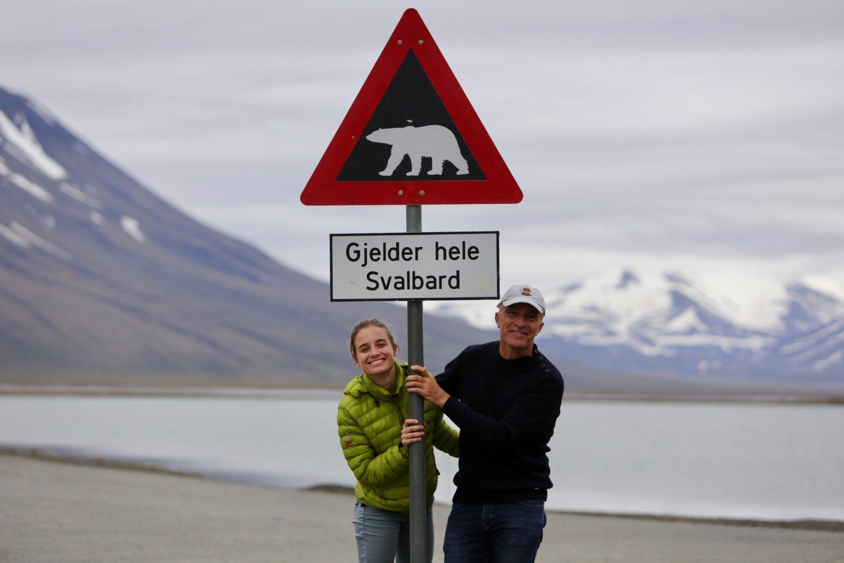 Avec Aliénor, à Longyearbyen