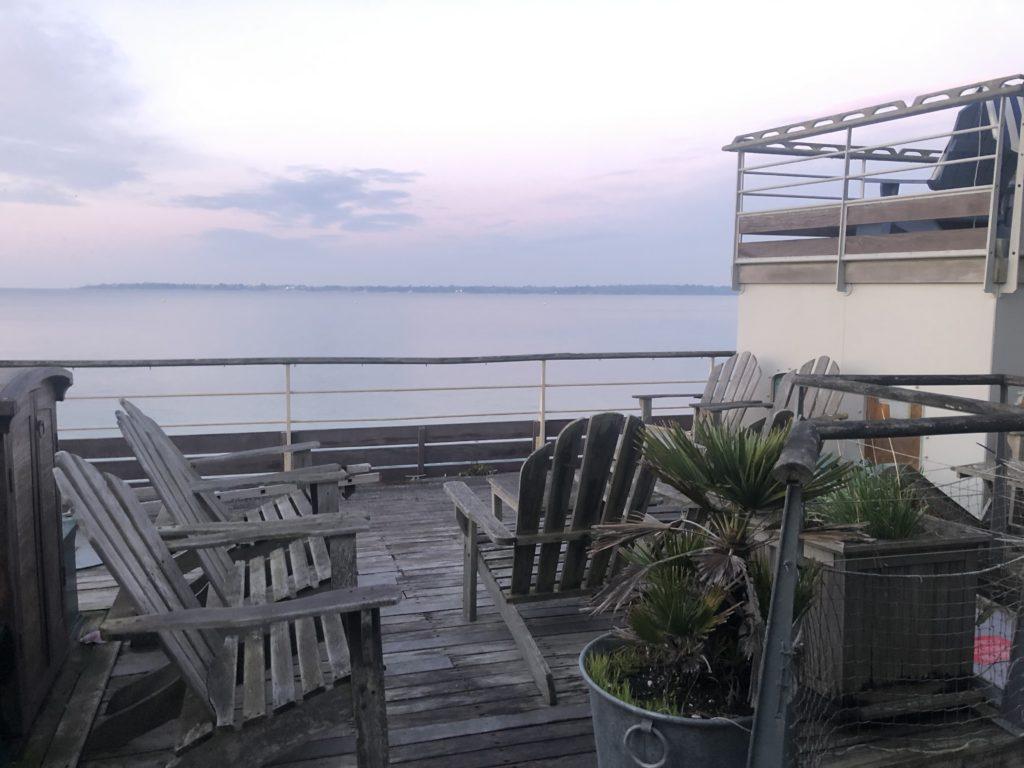 Terrasse de l'hotel Kermoor